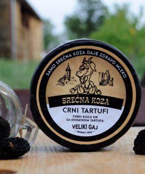 Kozji polutvrdi sir sa crnim tartufima 350gr Srećna Koza