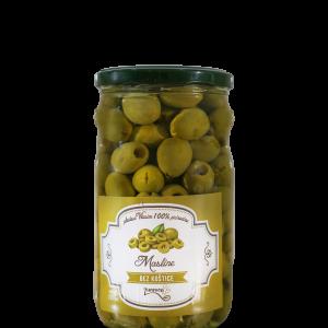 Zelenе masline bez koštica 720ml, Plodovi Vlasine